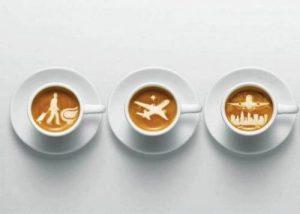 káva v lietadle