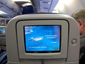 obrazovka v lietadle