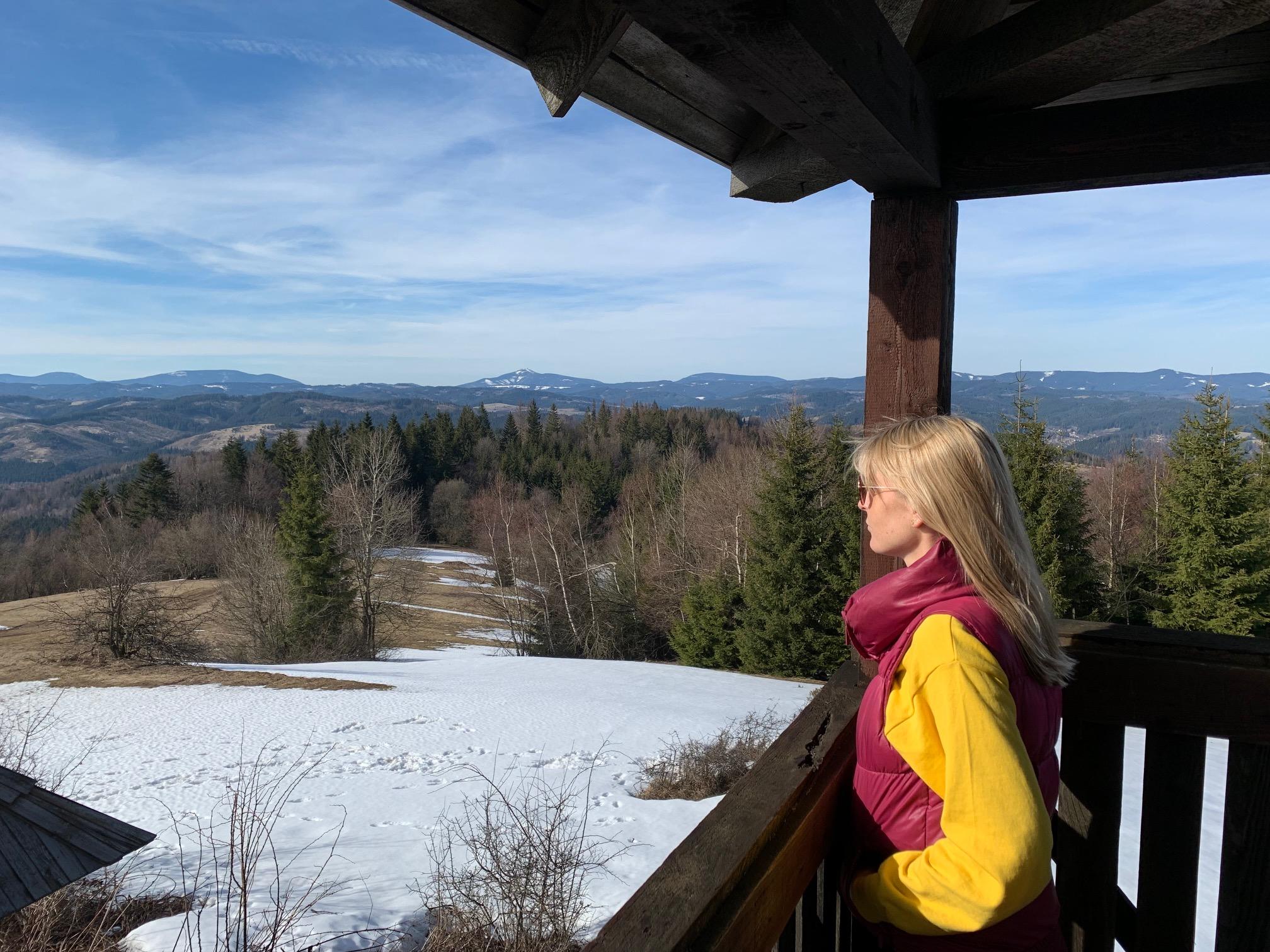 Nádherné výhľady pri českom pohraničí - rozhľadne Kamenité, Zarúbaná Kýčera, Stratenec, Malý Jelenec