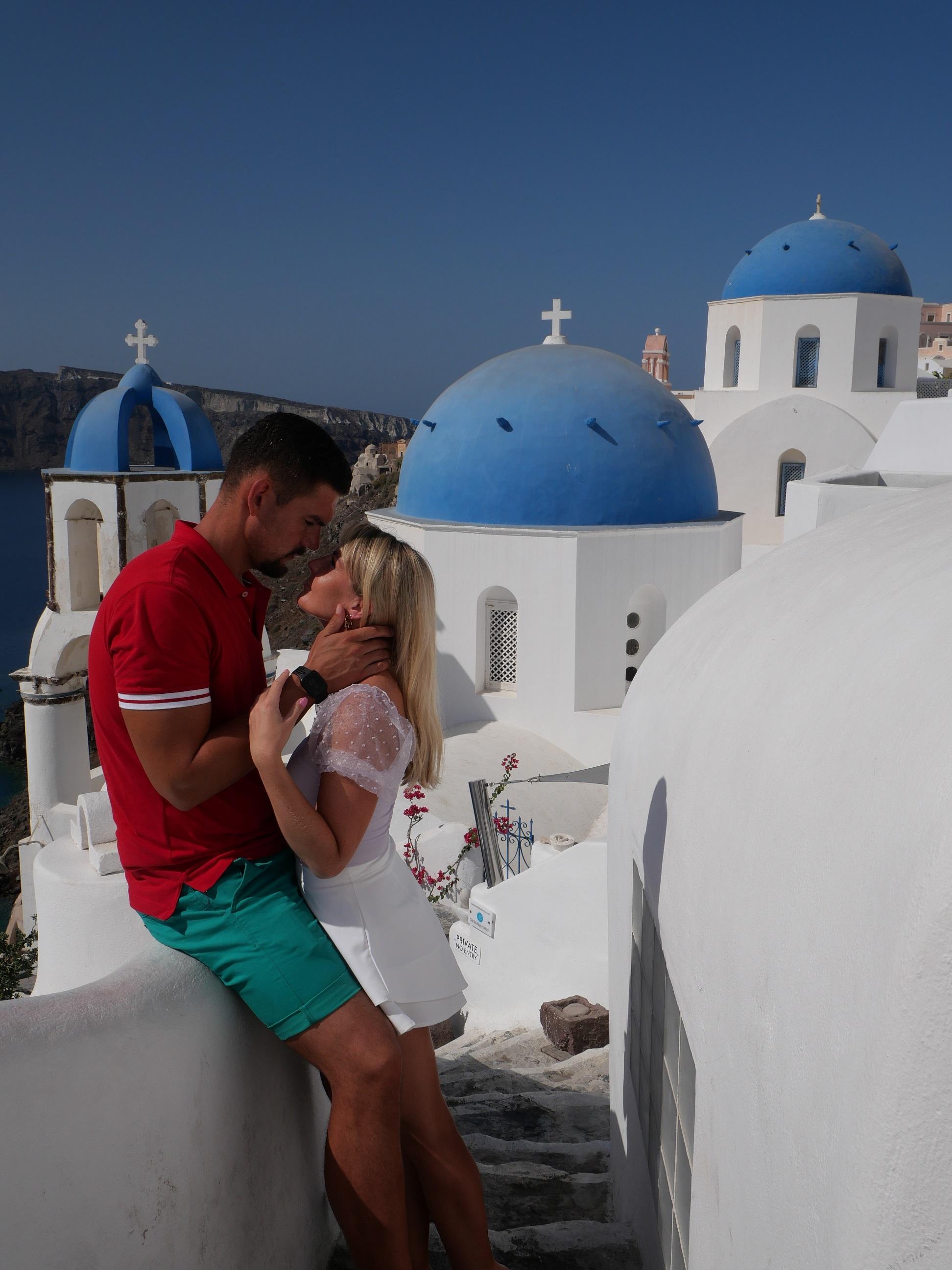Prekrásny romantický raj menom Santorini
